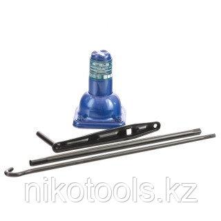 Домкрат механический бутылочный, 2 т, h подъема 210–390 мм, 2 части (домкрат, ручка)// Stels