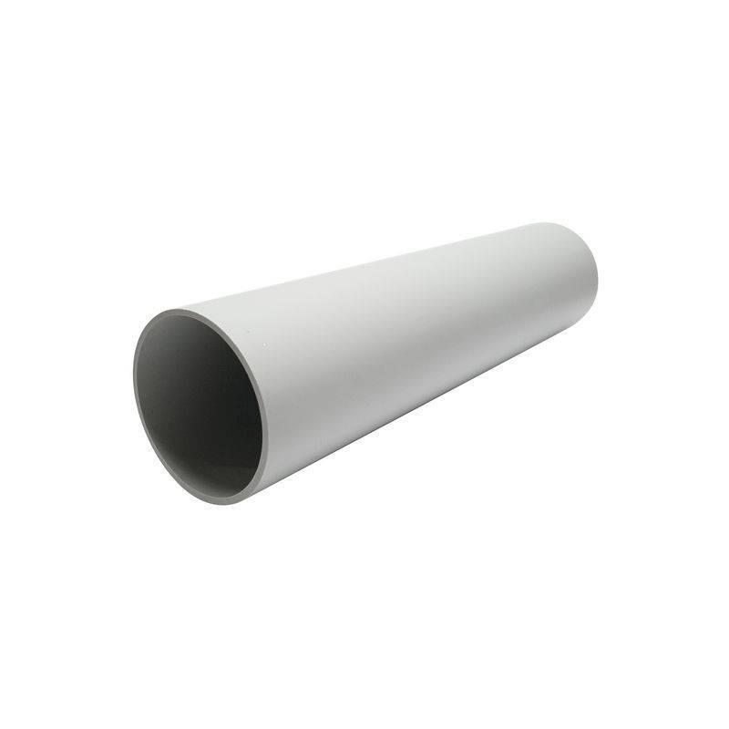 Труба жест. 50мм (3м) серая (21М)
