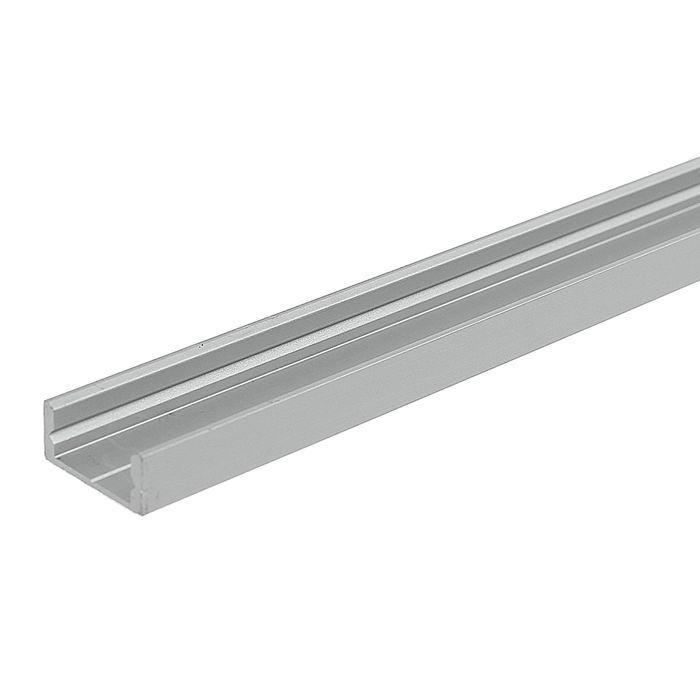 ЛП7 Алюминиевый профиль, цвет анодировки-серебро 7*16мм, длина 2 м