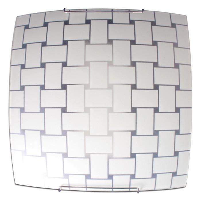 Светильник 300*300 Плетенка НПБ 09-60-003 матовый белый/кл штамп металлик ИУ 03992