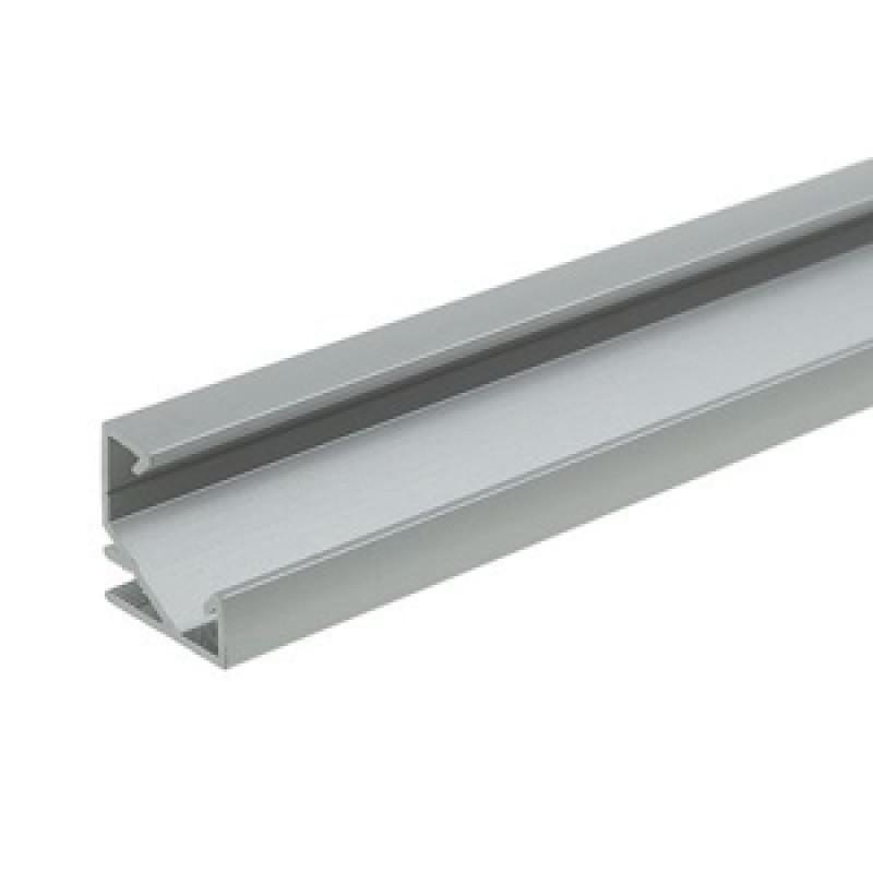 ЛПУ17 Алюминиевый профиль, цвет анодировки-серебро угловой 17*17мм, длина 2 м