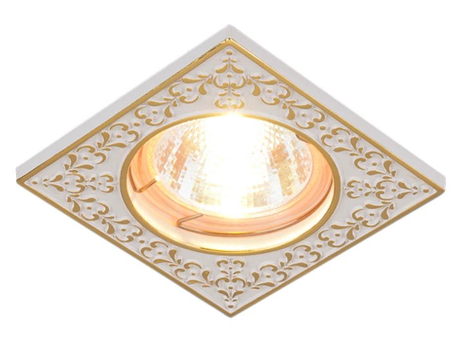 ТОЧЕЧНЫЙ СВЕТ - 120071 MR16 WH/GD белый/золото
