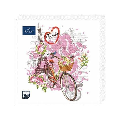 """Салфетки 33х33см, 3 сл.,""""Париж-Париж"""" , Бумага, 20 шт, фото 2"""