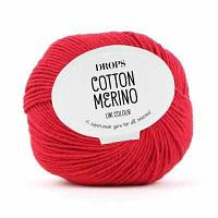 Пряжа DROPS Пряжа DROPS Cotton Merino Цвет.06 Red/красный