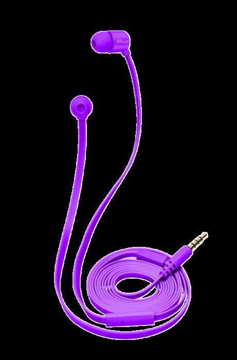 Наушники-вкладыши Trust DUGA IN-EAR - пурпурный неон
