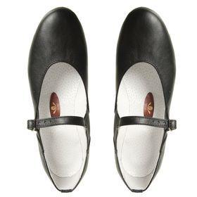 Туфли народные женские, длина по стельке 18,5 см, цвет чёрный - фото 5