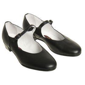 Туфли народные женские, длина по стельке 22,5 см, цвет чёрный - фото 1
