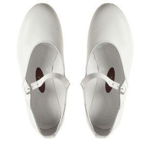 Туфли народные женские, длина по стельке 19,5 см, цвет белый - фото 5