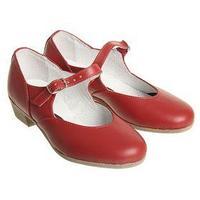 Туфли народные женские, длина по стельке 22 см, цвет красный