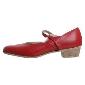 Туфли народные женские, длина по стельке 24 см, цвет красный - фото 2