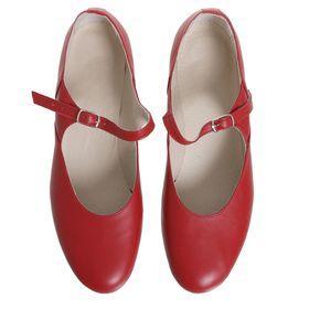 Туфли народные женские, длина по стельке 24 см, цвет красный - фото 3