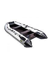 Лодка ПВХ Ривьера Компакт 3200 С Касатка светло-серый/черный, фото 2