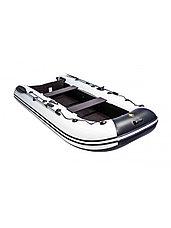 Лодка ПВХ Ривьера Компакт 3200 С Касатка светло-серый/черный, фото 3