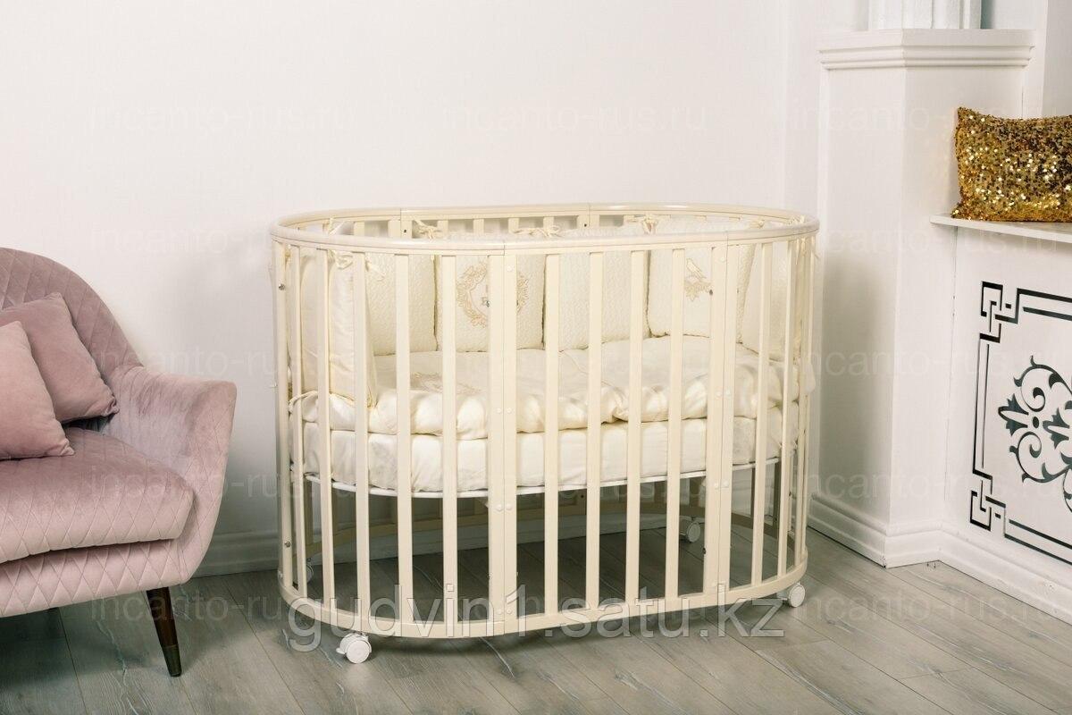 Кровать Incanto Amelia 8 в 1 бук , цвет слоновая кость 00-87687