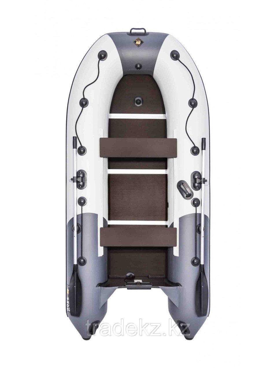 Лодка ПВХ Ривьера Компакт 3200 СК комби светло-серый/графит