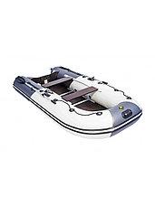 Лодка ПВХ Ривьера Компакт 3200 СК комби светло-серый/графит, фото 3