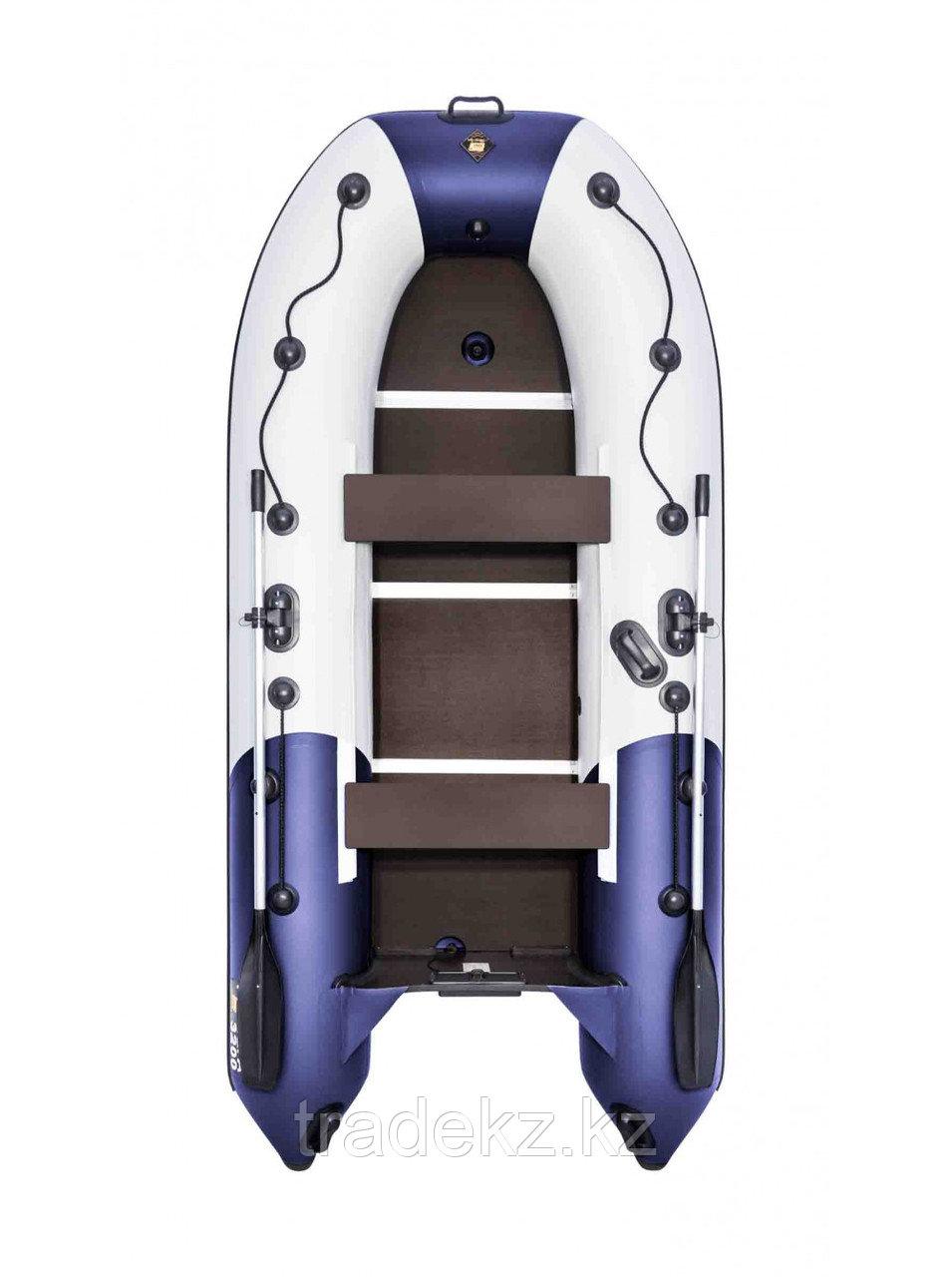 Лодка ПВХ Ривьера Компакт 3200 СК комби светло-серый/синий
