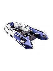 Лодка ПВХ Ривьера Компакт 3200 СК комби светло-серый/синий, фото 2