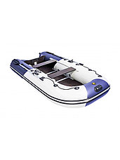 Лодка ПВХ Ривьера Компакт 3200 СК комби светло-серый/синий, фото 3