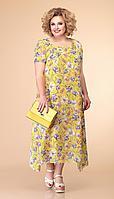 Платье Romanovich-1-1332/4, жёлтый, 52