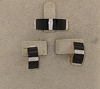 Золотой комплект с бриллиантами и ониксом
