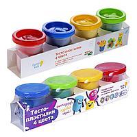 Пластилин Genio Kids Тесто-пластилин 4 цвета