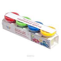 Пластилин Genio Kids Тесто-пластилин неоновые цвета 4 баночки