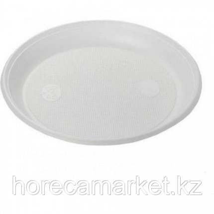 Пластиковая тарелка 21 см (100 шт), фото 2
