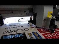Интерьерная печать с резкой наклеек и стикеров по контуру