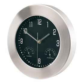Настенные алюминивые часы JUPITER с термометром