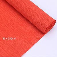 Гофрированная бумага Ярко-оранжевый