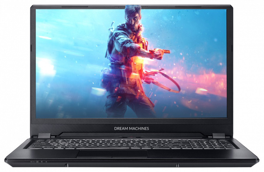 Игровой ноутбук Dream Machines RS2080Q-16KZ03 16.1'' FHD 144Hz Slim, i7-9750H, RTX2080 Max-Q 8GB