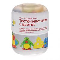 Пластилин Genio Kids Тесто-пластилин 6 цветов мини-набор