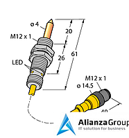 Магнитный датчик TURCK NIMFE-EM12/4.0L61-UP6X-0.3XYE-RS4/S1182