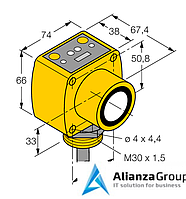 Ультразвуковой датчик TURCK QT50UVR3W W/30