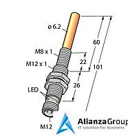 Магнитный датчик TURCK NIMFE-EM12/6.2L101-UP6X-H1141/S1182