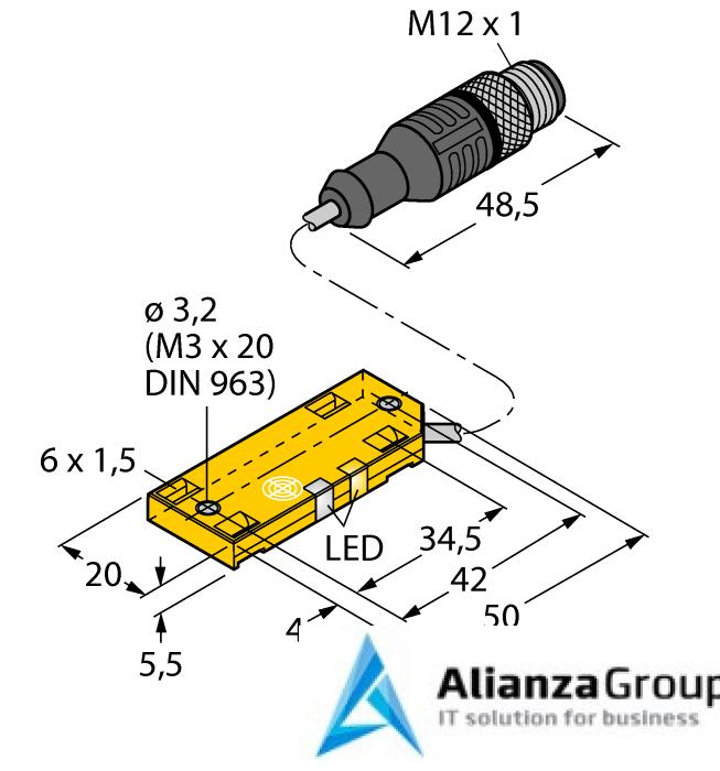 Емкостной датчик TURCK BC5-QF5.5-AP6X2-2-RS4/S250/3G