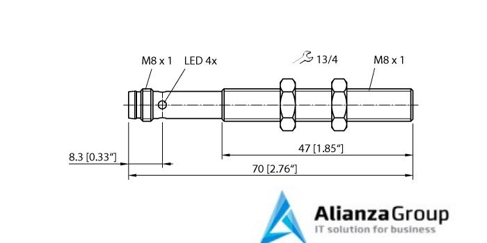 Ультразвуковой датчик TURCK RU10L-M08-UP8X-V1141