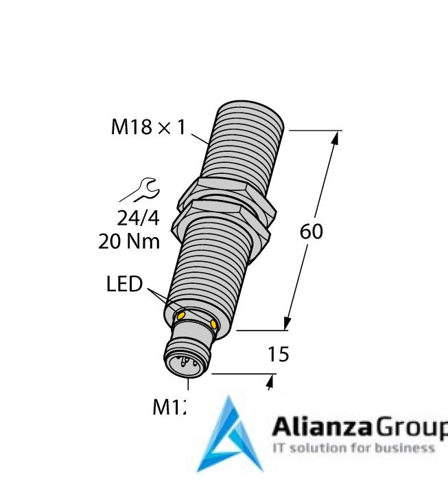Ультразвуковой датчик TURCK RU40U-M18E-2UP8X2-H1151