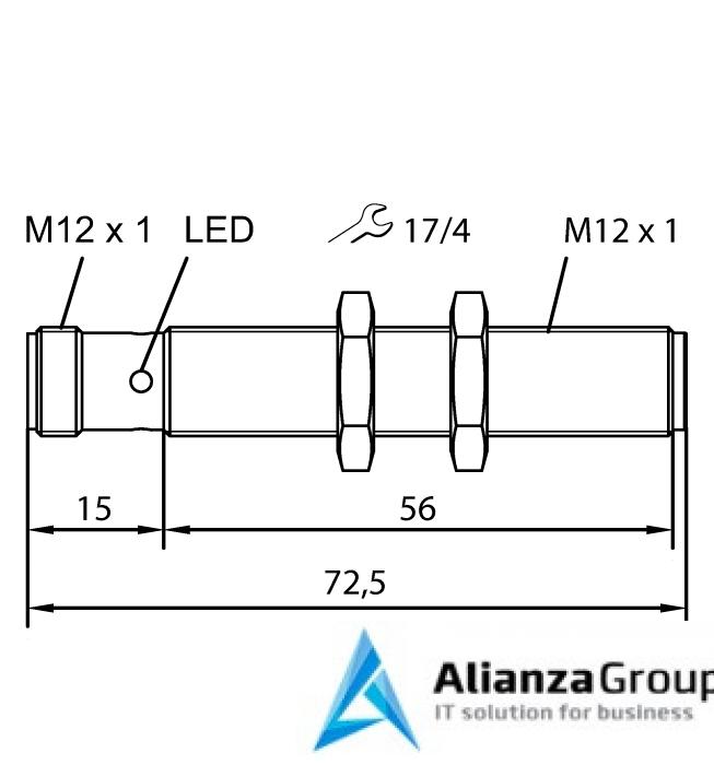 Ультразвуковой датчик TURCK RU40U-M12-AP6X2-H1141