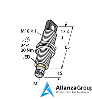 Ультразвуковой датчик TURCK RU40U-M18MS-LFX-H1151