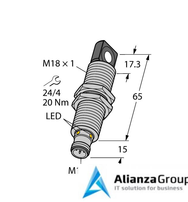 Ультразвуковой датчик TURCK RU40L-M18MS-UN8X2-H1151