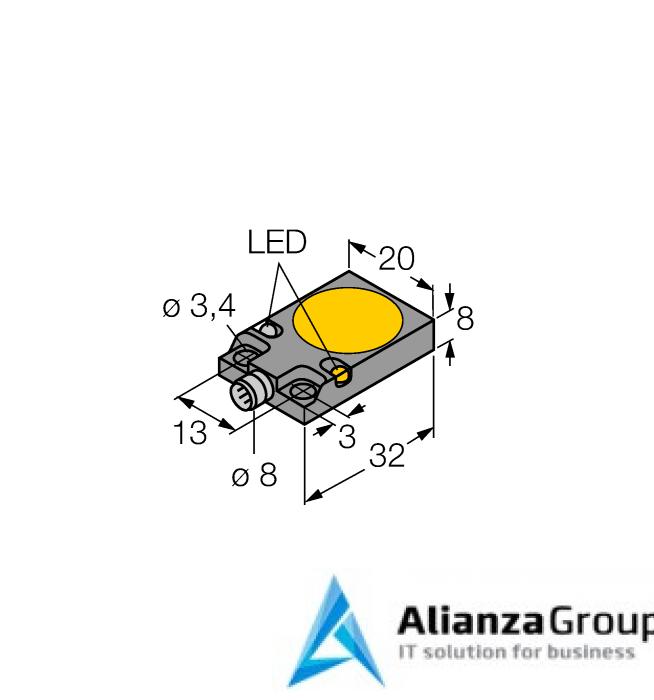 Емкостной датчик TURCK BC5-Q08-AP6X2-V1131/S250