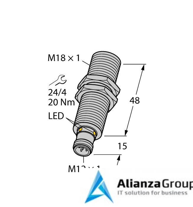 Ультразвуковой датчик TURCK RU40L-M18M-UP8X2-H1151