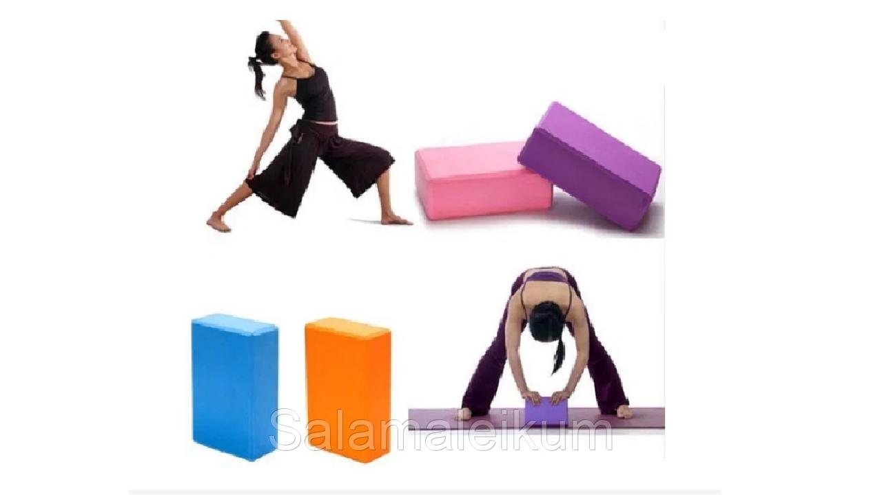 Опорный блок (кирпич) для йоги,
