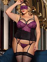 Сексуальное кружевное белье + маска на глаза Purple Lace (XL), фото 1