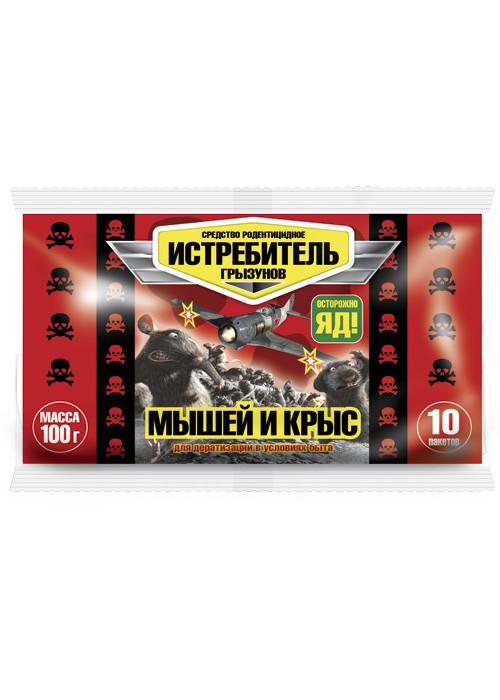 Приманка Истребитель Крыс и Мышей 100гр