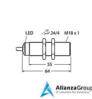 Ультразвуковой датчик TURCK RU50L-S18-AP8X