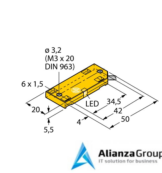 Емкостной датчик TURCK BC5-QF5.5-Y1X/S250