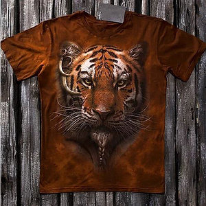 «Африканский тигр» мужская варенка футболка 3D